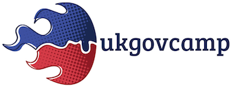 Blue and Red UKGovCamp logo